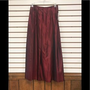 Worthington long formal skirt size 10, dark red